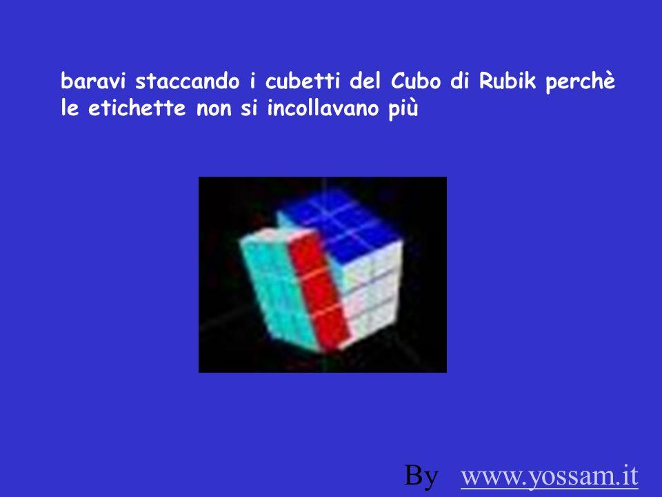 baravi staccando i cubetti del Cubo di Rubik perchè le etichette non si incollavano più By www.yossam.itwww.yossam.it