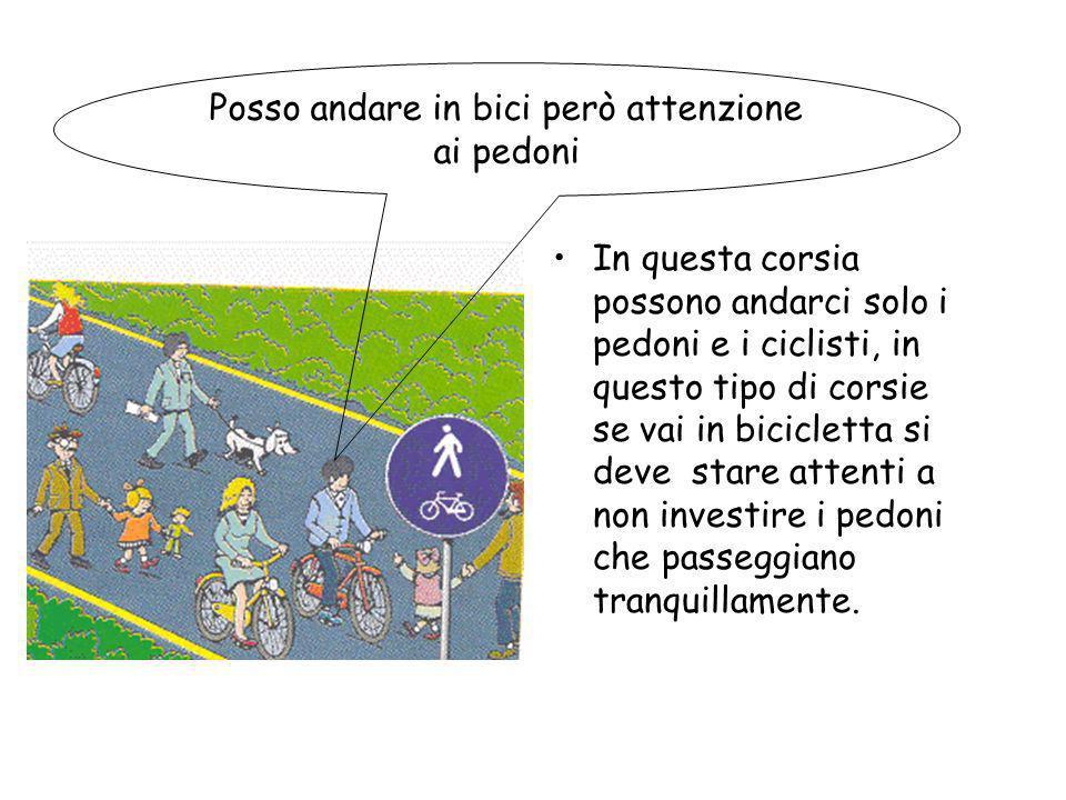 Se nella carreggiata cè uno spazio ben delimitato per le biciclette, dobbiamo passare dentro la pista ciclabile altrimenti compiamo uninfrazione.