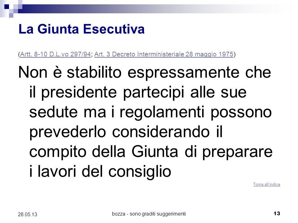 bozza - sono graditi suggerimenti13 28.05.13 La Giunta Esecutiva (Artt.