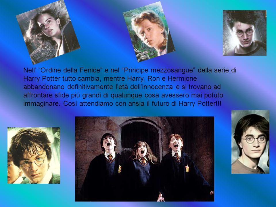 Nell Ordine della Fenice e nel Principe mezzosangue della serie di Harry Potter tutto cambia, mentre Harry, Ron e Hermione abbandonano definitivamente