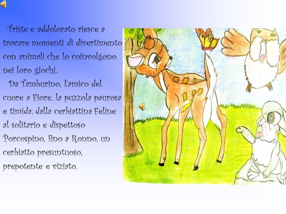 Triste e addolorato riesce a trovare momenti di divertimento con animali che lo coinvolgono nei loro giochi.. Da Tamburino, lamico del cuore a Fiore,