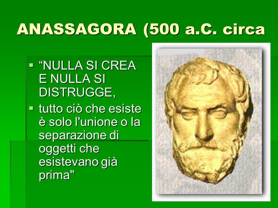 ANASSAGORA (500 a.C.