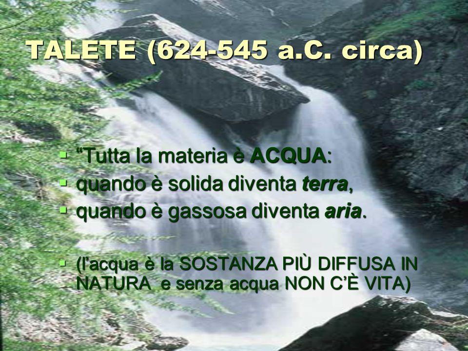 TALETE (624-545 a.C.