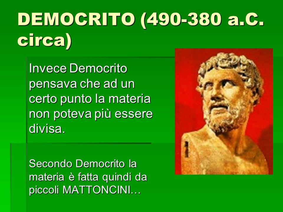 DEMOCRITO (490-380 a.C.
