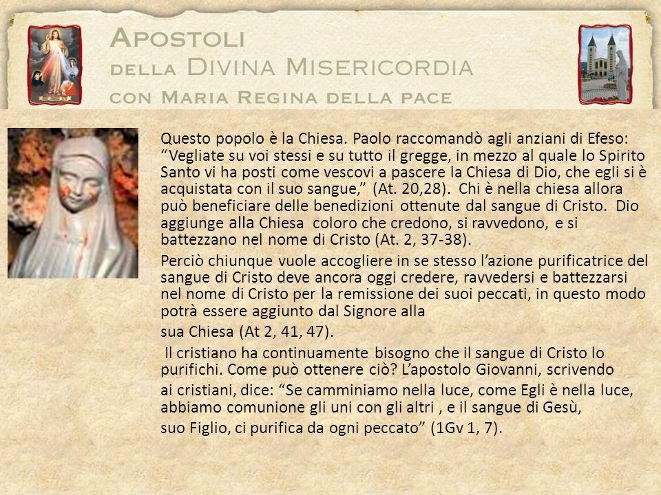 Questo popolo è la Chiesa. Paolo raccomandò agli anziani di Efeso: Vegliate su voi stessi e su tutto il gregge, in mezzo al quale lo Spirito Santo vi