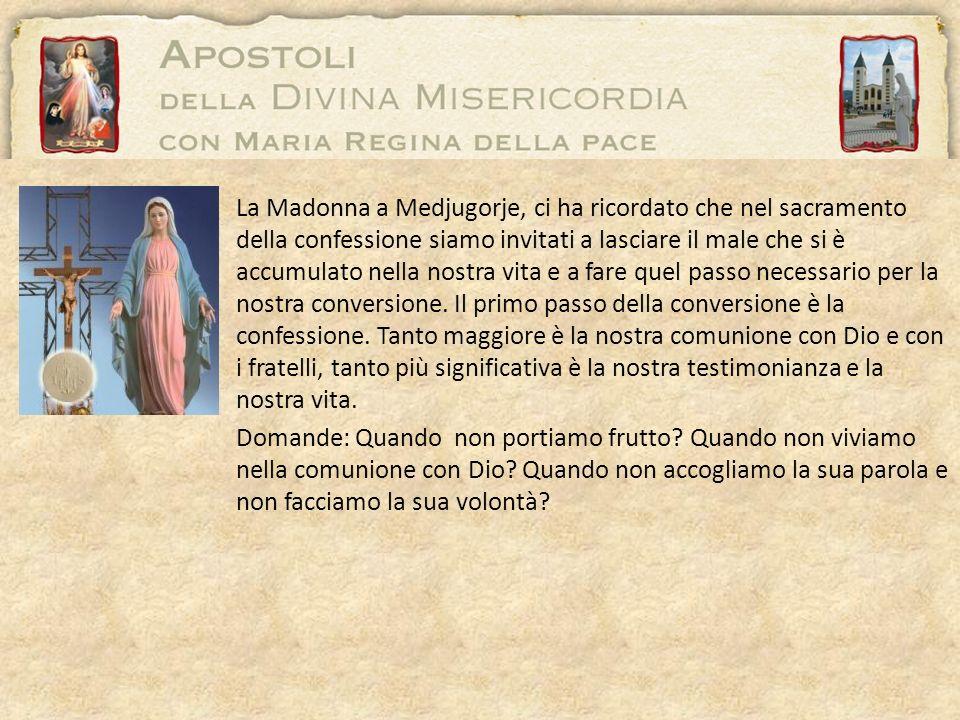La Madonna a Medjugorje, ci ha ricordato che nel sacramento della confessione siamo invitati a lasciare il male che si è accumulato nella nostra vita