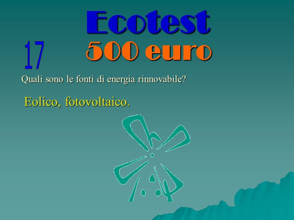 Quali sono le fonti di energia rinnovabile? Eolico, fotovoltaico. Ecotest