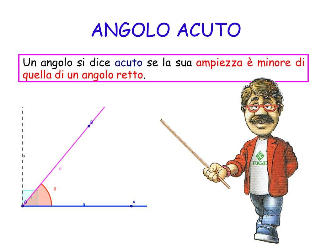 ANGOLO OTTUSO Un angolo si dice ottuso se la sua ampiezza è maggiore di un angolo retto.