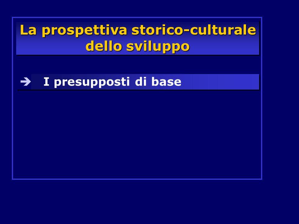La prospettiva storico-culturale dello sviluppo I presupposti di base