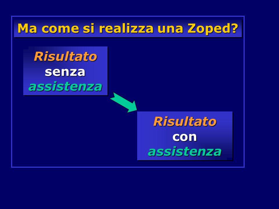 Ma come si realizza una Zoped? Risultato senza assistenza Risultato con assistenza