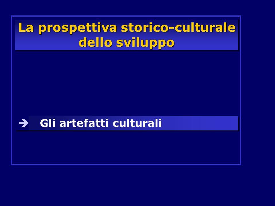 La prospettiva storico-culturale dello sviluppo Gli artefatti culturali