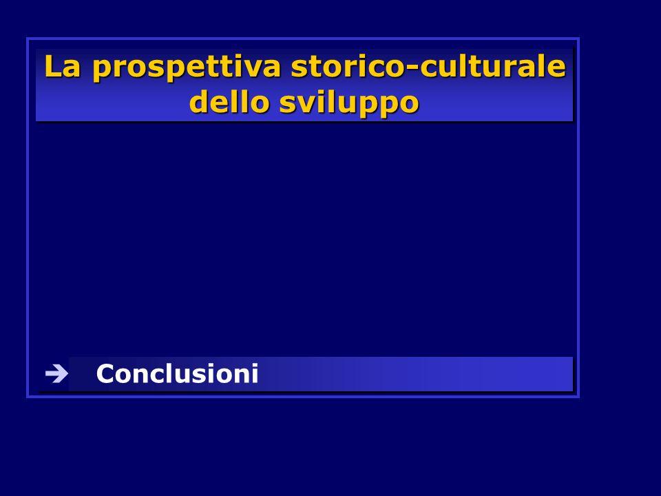 La prospettiva storico-culturale dello sviluppo Conclusioni