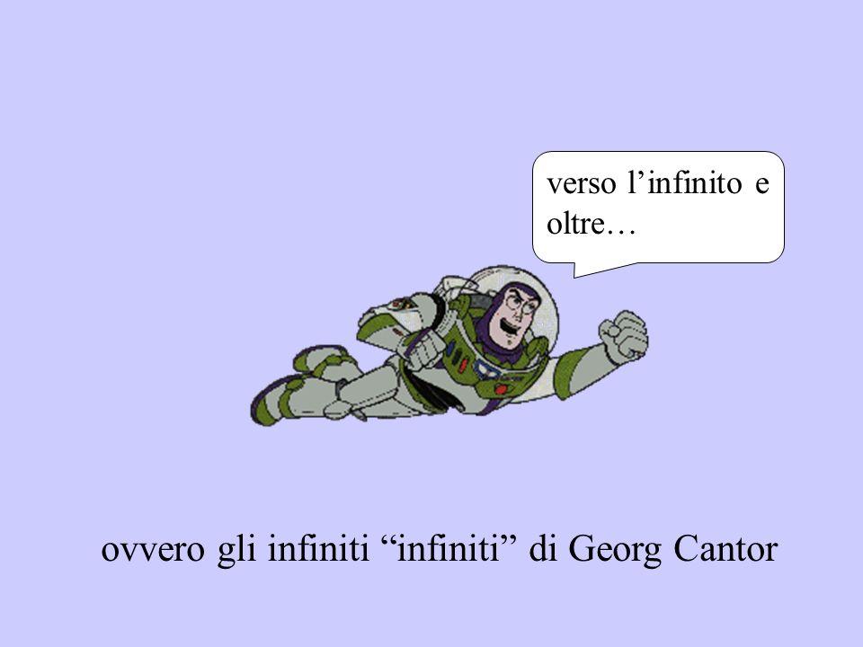 ovvero gli infiniti infiniti di Georg Cantor verso linfinito e oltre…