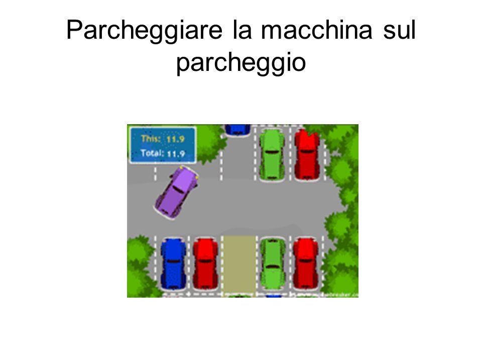 Parcheggiare la macchina sul parcheggio