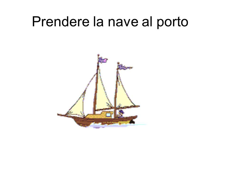 Prendere la nave al porto