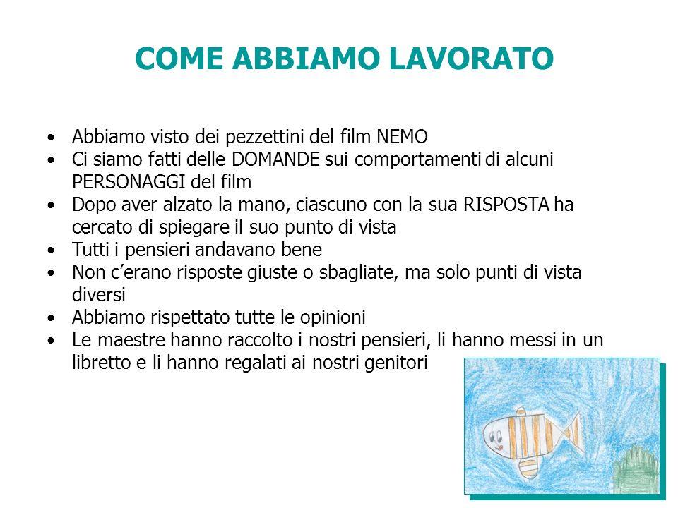 RIFLESSIONI ALLA FINE DELLA PROIEZIONE DELLINTERO FILM Nemo Posso farcela.