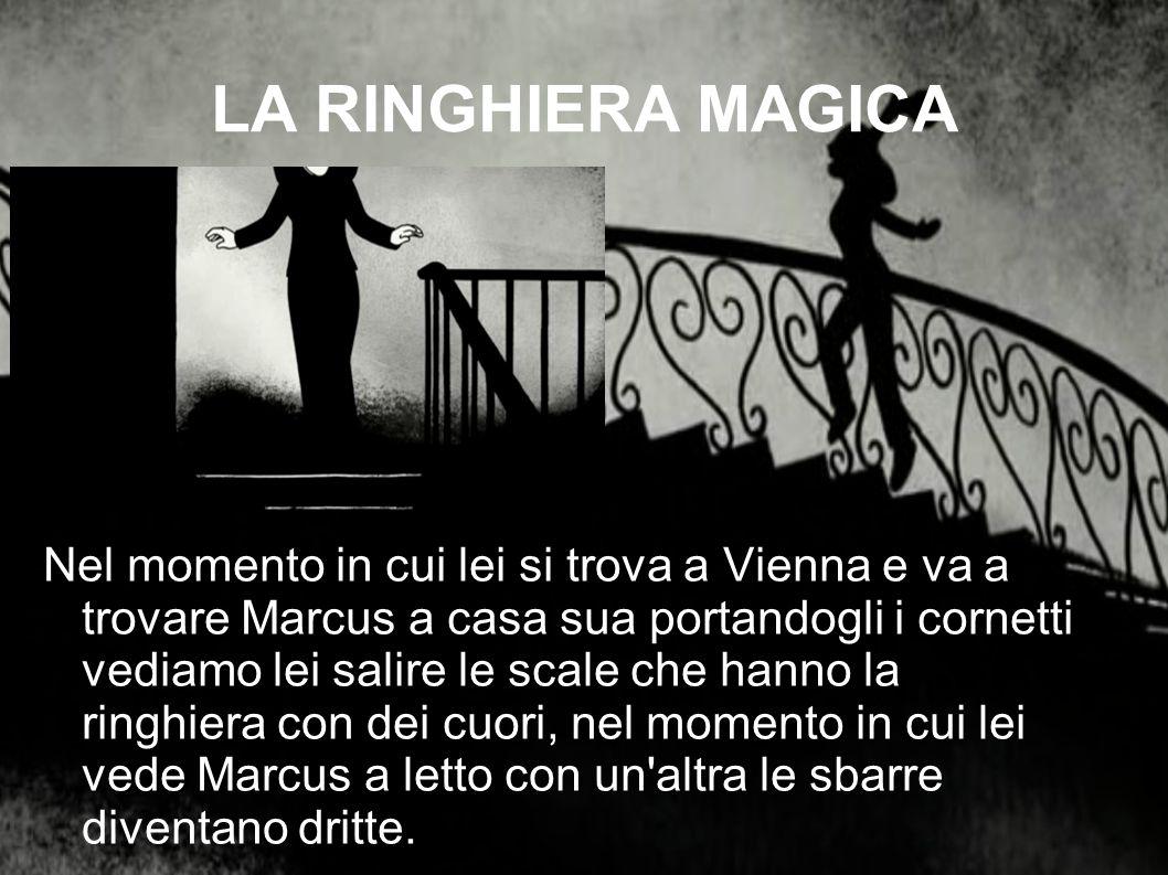 LA RINGHIERA MAGICA Nel momento in cui lei si trova a Vienna e va a trovare Marcus a casa sua portandogli i cornetti vediamo lei salire le scale che h