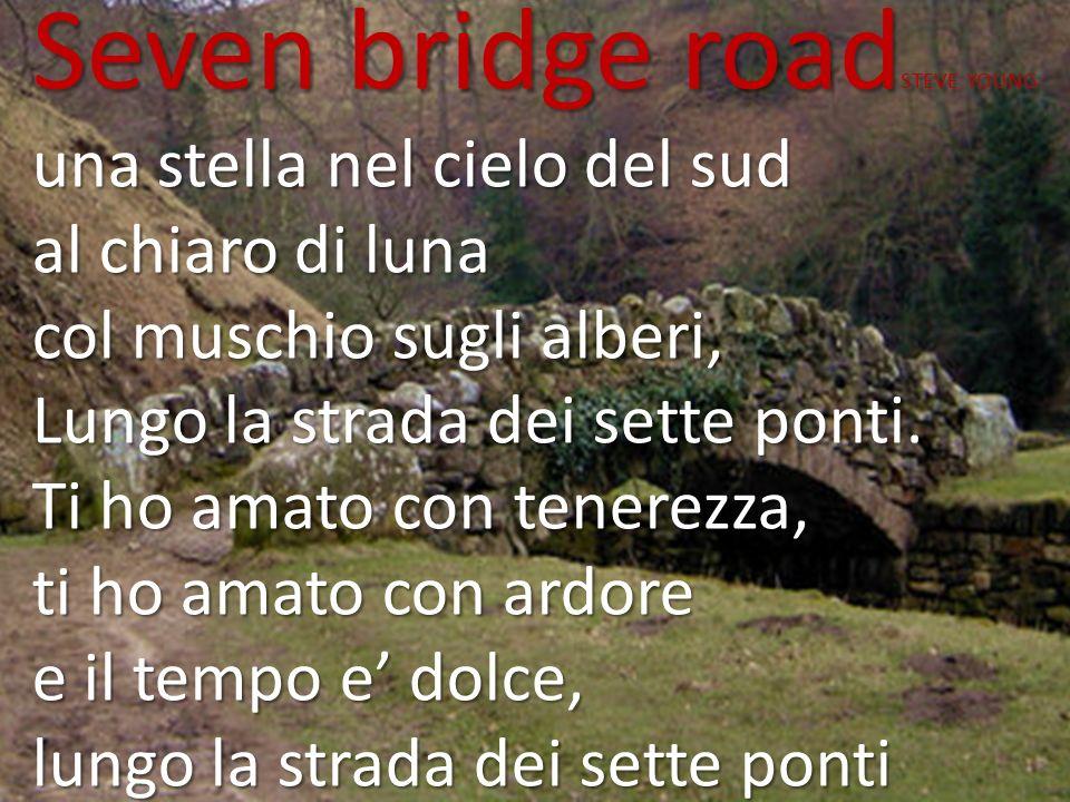 Seven bridge road STEVE YOUNG una stella nel cielo del sud al chiaro di luna col muschio sugli alberi, Lungo la strada dei sette ponti. Ti ho amato co