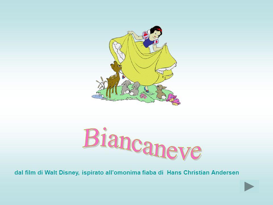 Cera una volta una regina che aveva una figlia con i capelli nerissimi, le labbra rosse e la pelle bianca come la neve: per questo la chiamavano Biancaneve.