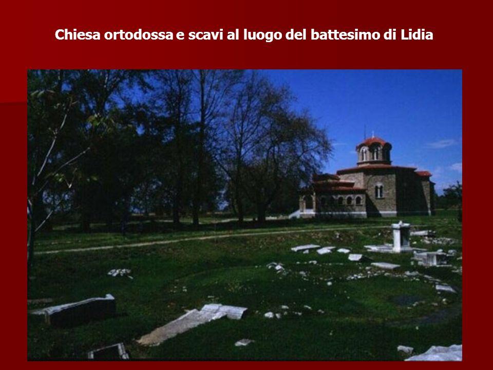 Chiesa ortodossa e scavi al luogo del battesimo di Lidia