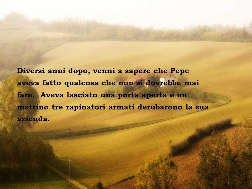 Tivoli - Villa d Este Ho pensato a lungo su ciò che Pepe mi aveva detto.