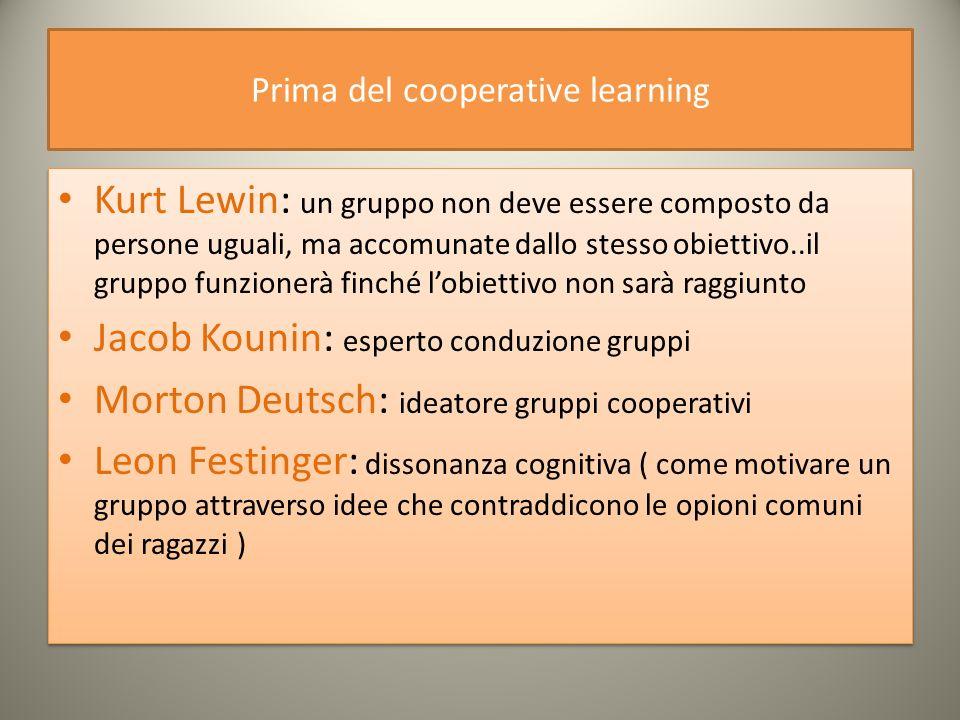 Il cooperative learning Non è il lavoro di gruppo.
