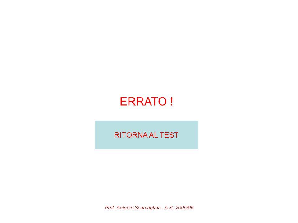 Prof. Antonio Scarvaglieri - A.S. 2005/06 ERRATO ! RITORNA AL TEST