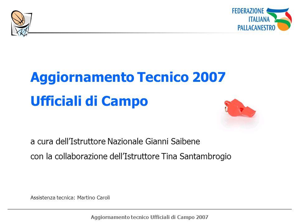 Aggiornamento tecnico Ufficiali di Campo 2007 Aggiornamento Tecnico 2007 Ufficiali di Campo a cura dellIstruttore Nazionale Gianni Saibene con la coll