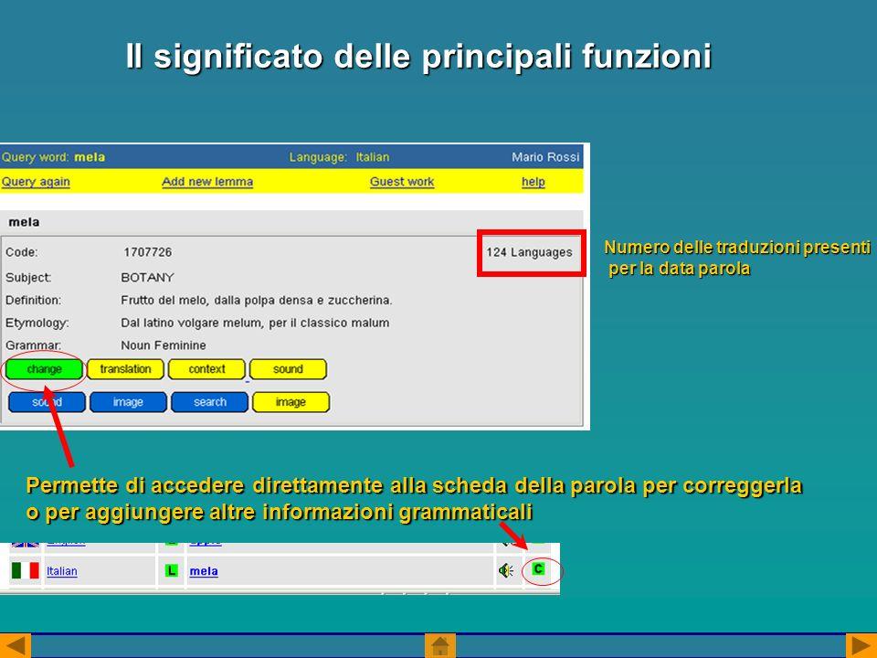 1.selezionare la lingua dallelenco (se si è abilitati a più di una lingua) 2.Cliccare su SEARCH