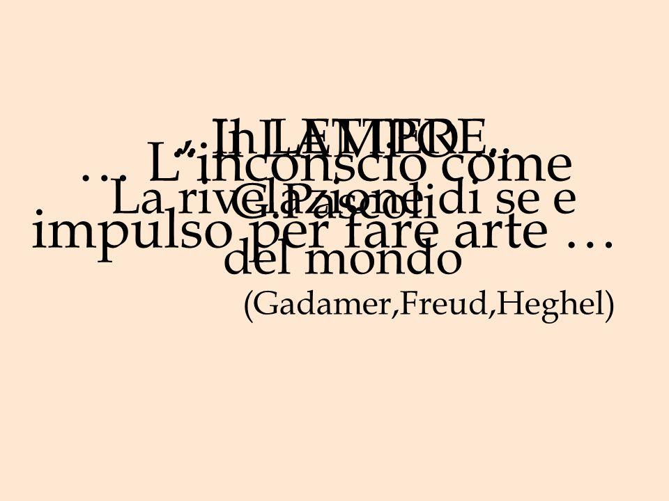 … Linconscio come impulso per fare arte … (Gadamer,Freud,Heghel)..