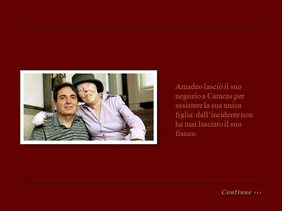 Amadeo lasciò il suo negozio a Caracas per assistere la sua unica figlia: dallincidente non ha mai lasciato il suo fianco.