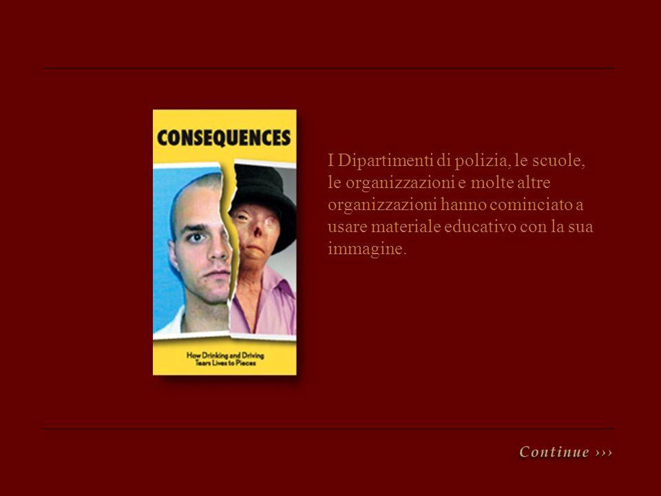 I Dipartimenti di polizia, le scuole, le organizzazioni e molte altre organizzazioni hanno cominciato a usare materiale educativo con la sua immagine.