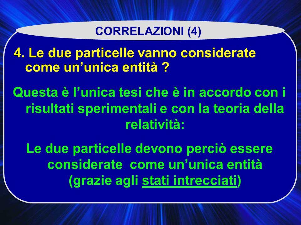 4.Le due particelle vanno considerate come ununica entità .