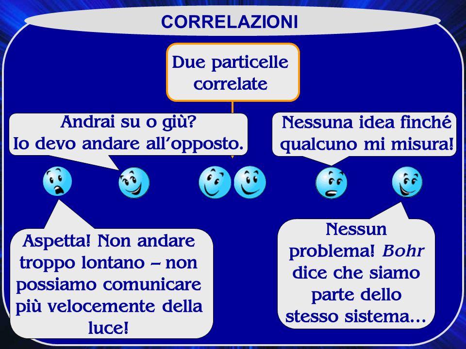 Due particelle correlate CORRELAZIONI Aspetta.