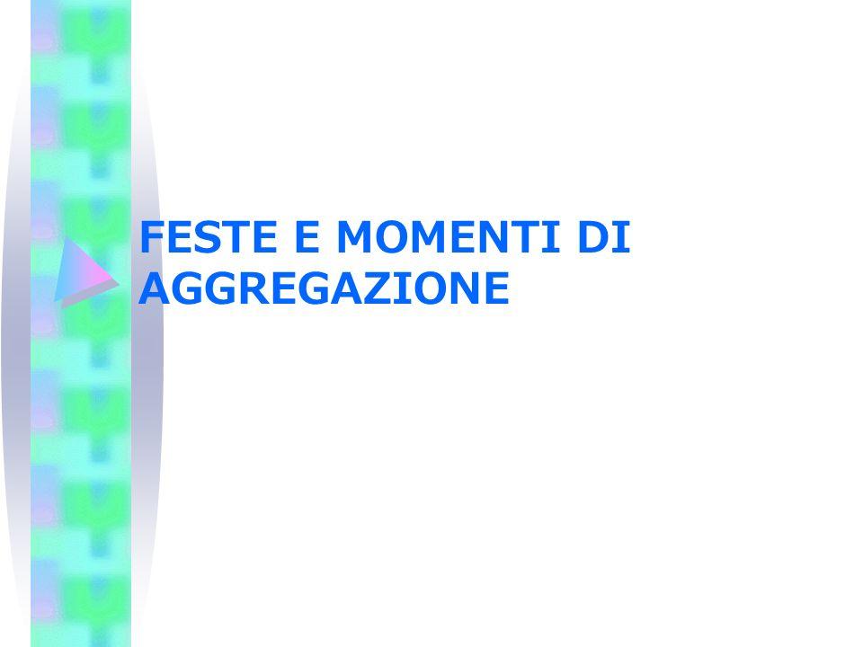 FESTE E MOMENTI DI AGGREGAZIONE