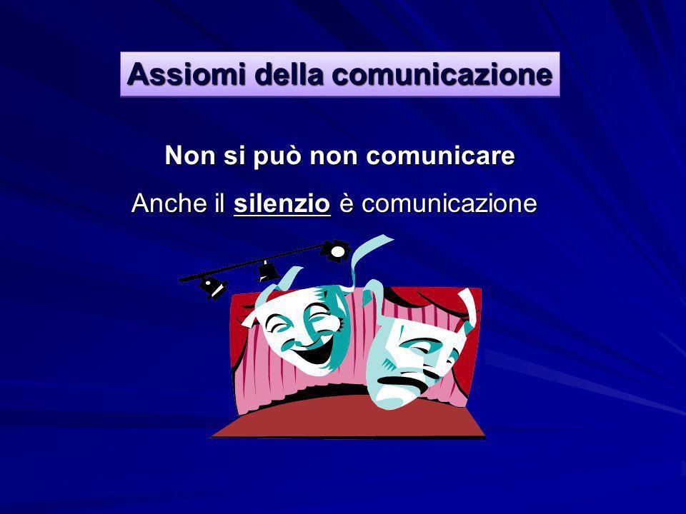 Non si può non comunicare Assiomi della comunicazione Anche il silenzio silenzio è comunicazione