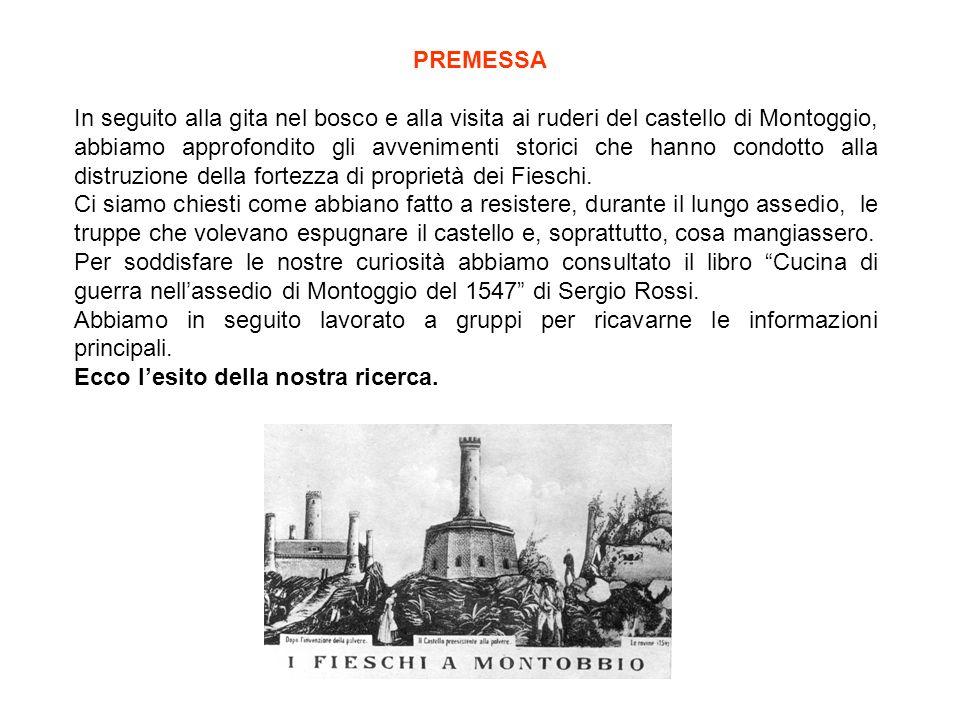 PREMESSA In seguito alla gita nel bosco e alla visita ai ruderi del castello di Montoggio, abbiamo approfondito gli avvenimenti storici che hanno condotto alla distruzione della fortezza di proprietà dei Fieschi.