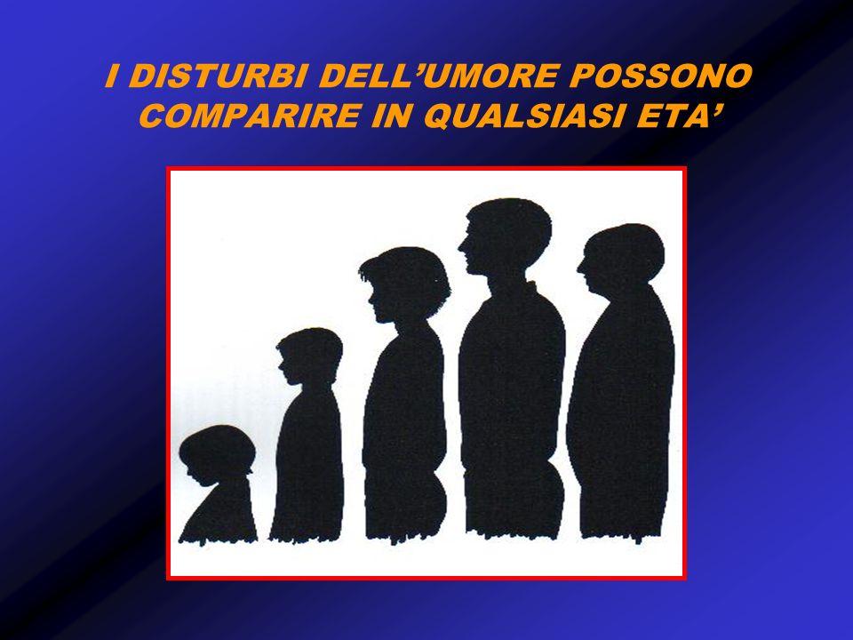 I DISTURBI DELLUMORE POSSONO COMPARIRE IN QUALSIASI ETA