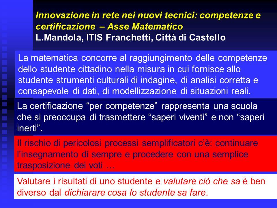 Matematica&Realtà Una proposta di innovazione didattica, frutto di una sperimentazione sul campo di oltre 16 anni.