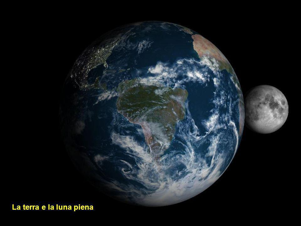 La terra e la luna nuova