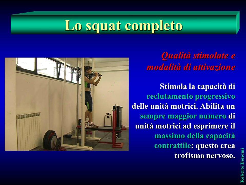 Roberto Bonomi Il mezzo squat continuo