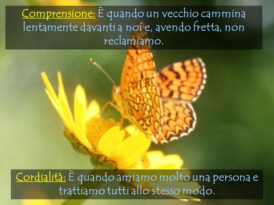 Cordialità: È quando amiamo molto una persona e trattiamo tutti allo stesso modo.