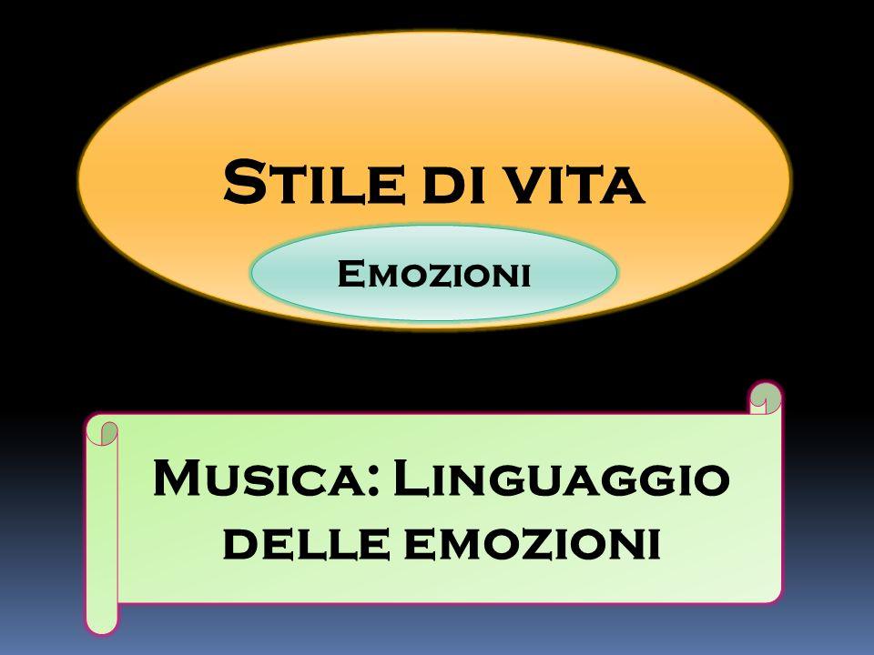 Stile di vita Emozioni Musica: Linguaggio delle emozioni