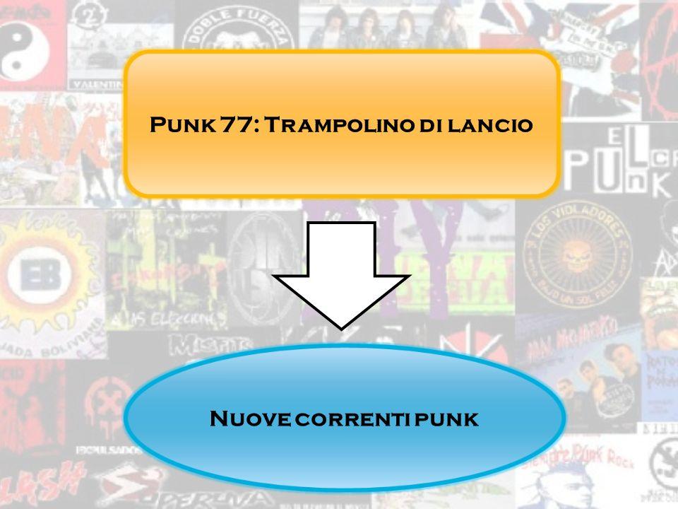 Punk 77: Trampolino di lancio Nuove correnti punk