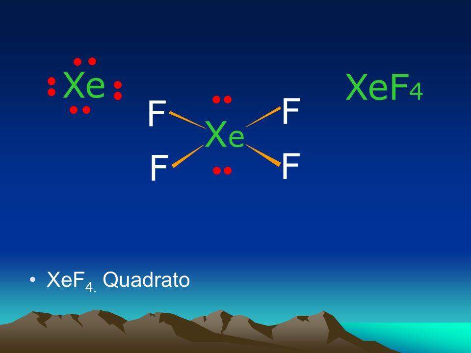 XeXe F F F XeF 4. Quadrato Xe F XeF 4