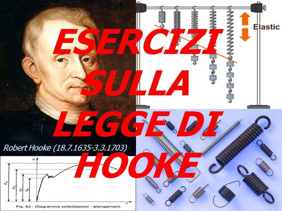 99 ESERCIZI SULLA LEGGE DI HOOKE Robert Hooke (18.7.1635-3.3.1703)