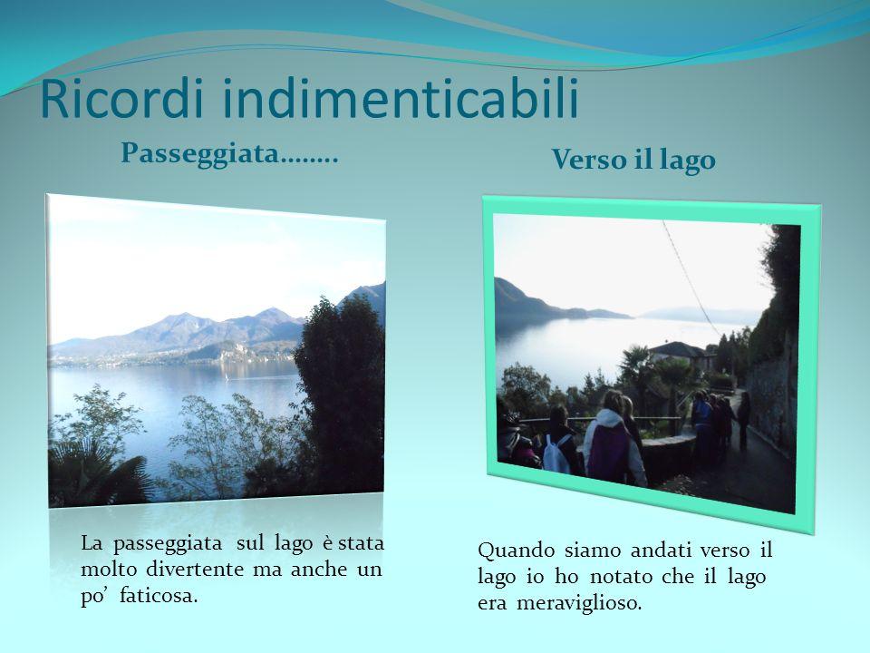 Ricordi indimenticabili Passeggiata…….. Verso il lago La passeggiata sul lago è stata molto divertente ma anche un po faticosa. Quando siamo andati ve