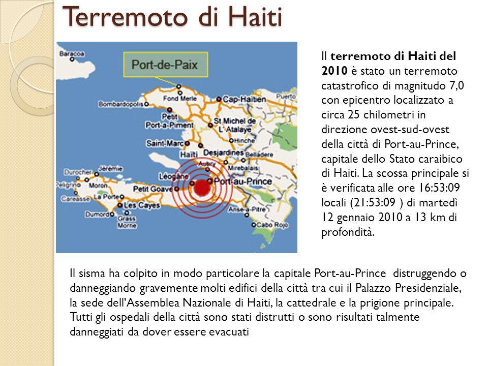 Il Palazzo Presidenziale di Haiti dopo il sisma