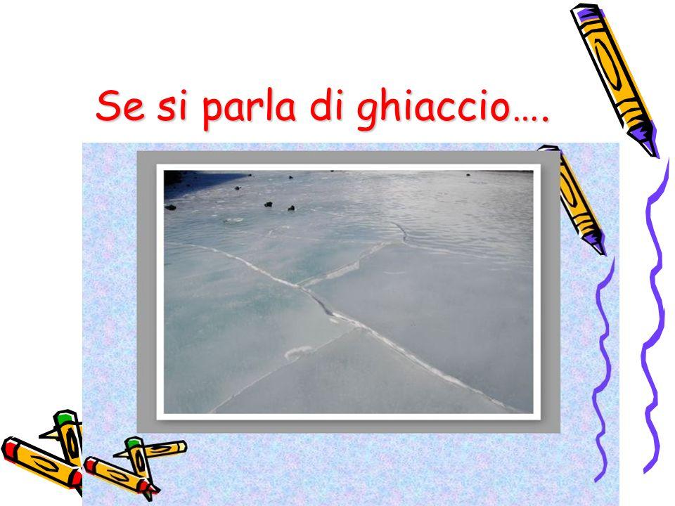 gruppo di lavoro:il ghiaccio 5°G Se si parla di ghiaccio….