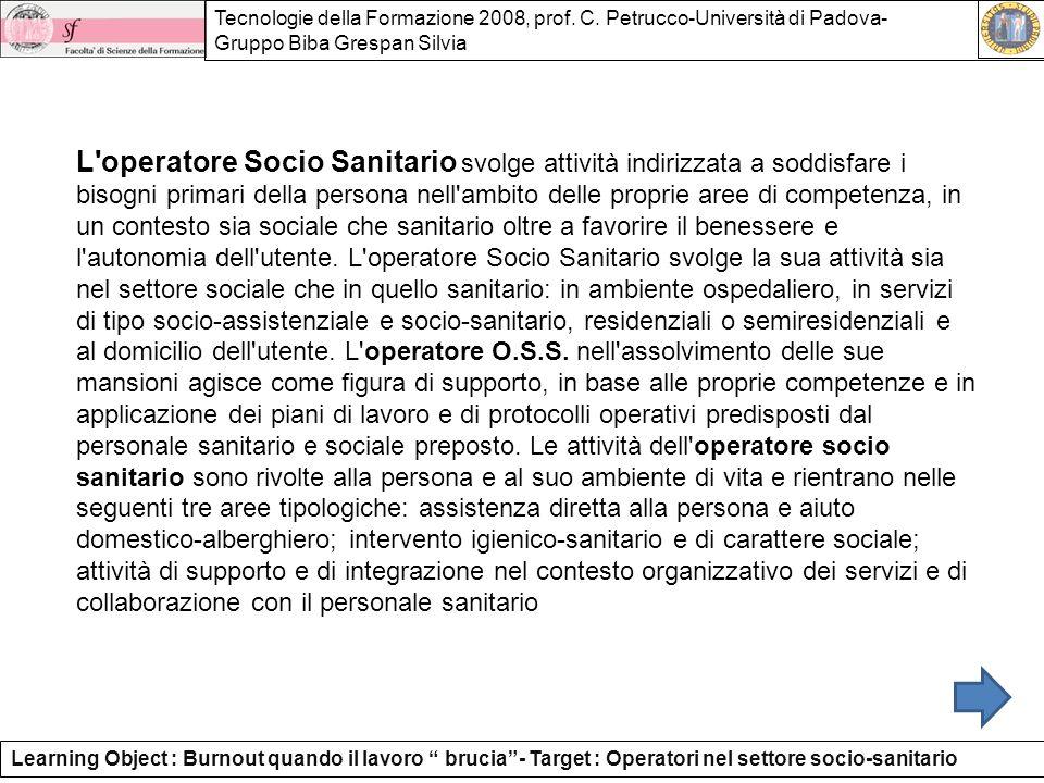 Tecnologie della Formazione 2008, prof.C.